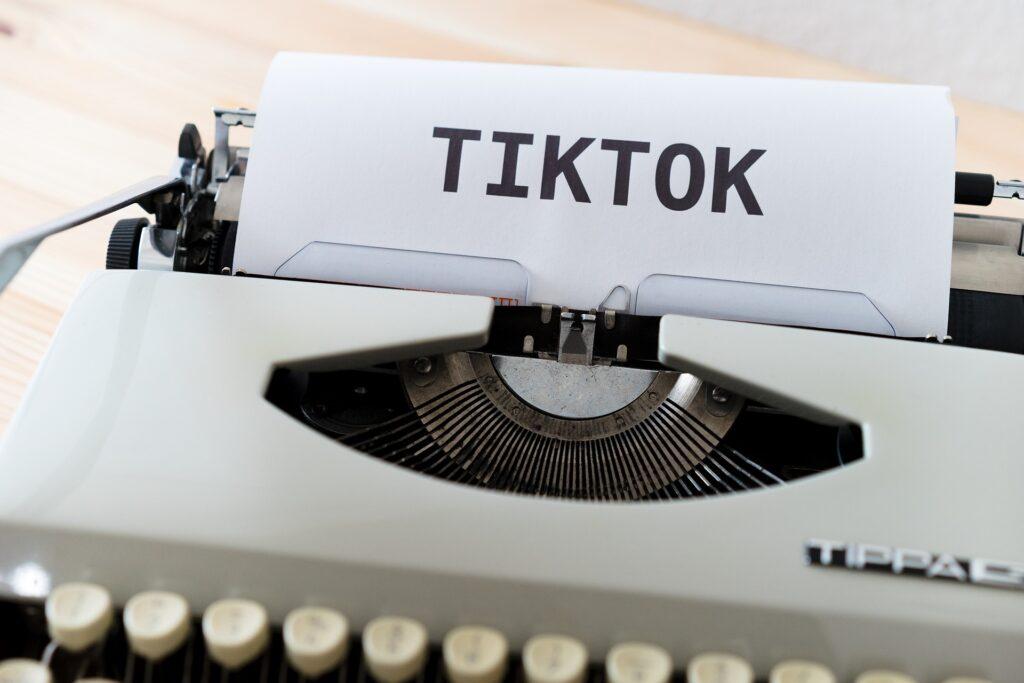 TikTok Typewriter page